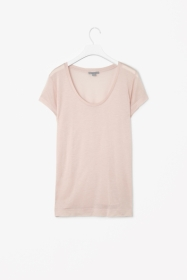 Sheer jersey t-shirt in navy, green, white, light pink and dark grey