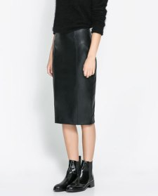 Zara faux leather skirt2045905652