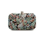 Zara embroidered clutch