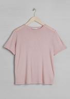 &Other Stories basic viscose t-shirt light pink