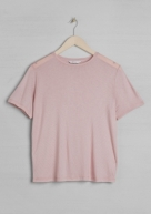 &Other Stories basic viscose t-shirt light pink