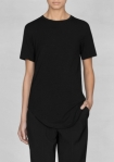 &Other Stories viscose wool long t-shirt black