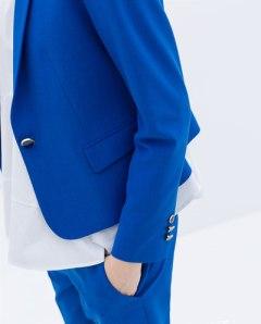 Zara buttoned blazer bright blue