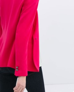 Zara buttoned blazer bright pink
