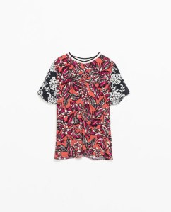 Zara combination printed top