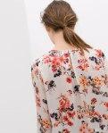Zara floral print crop top
