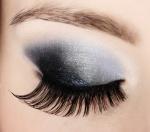 closeup female eye