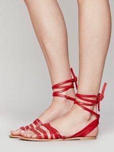 Free People Harpoon wrap sandal