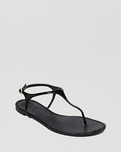 VINCE CAMUTO Flat Thong Sandals - Adrelin black