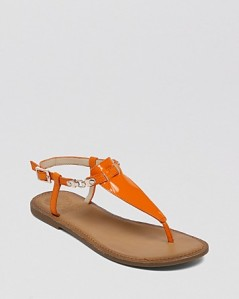 VINCE CAMUTO Flat Thong Sandals - Itelli Chain orange