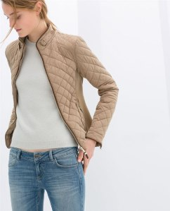 Zara quilted beige jacket