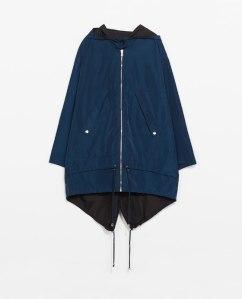 Zara reversible parka blue-black