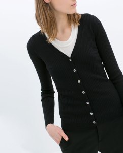 Zara ribbed black cardigan