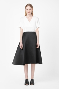 COS ASYMMETRIC ORGANZA SKIRT