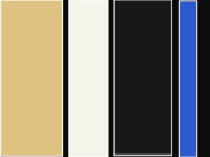 Black, white, beige and bright blue 3