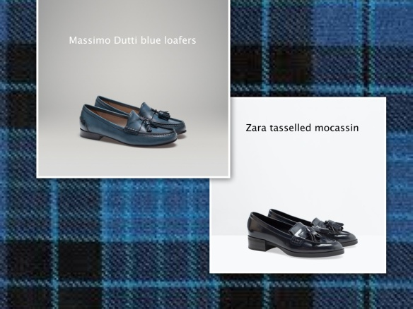 Zara and Dutti loafers