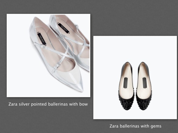 Zara evening ballerinas