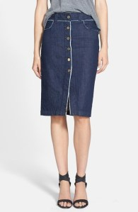 7 For All Mankind® Raw Edge Pencil Skirt