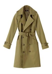 APC olive trench coat