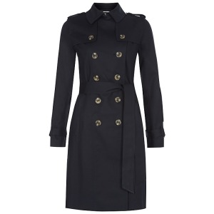 Hobbs London Saskia Trench Coat, Navy