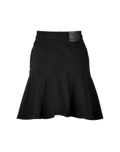 MCQ ALEXANDER MCQUEEN Godet Denim Skirt