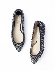 Boden  navy JEWELLED PUMP
