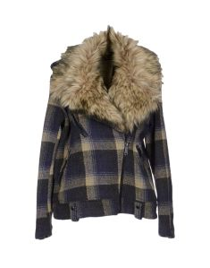 Denim & Supply Ralph Lauren tartan and faux fur jacket