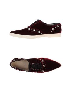 Marc Jacobs maroon velvet low-tops