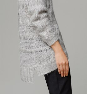 Massimo Dutti HORIZONTAL CABLE-KNIT SWEATER (detail)