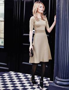 Boden MILANO DRESS champagne sparkle