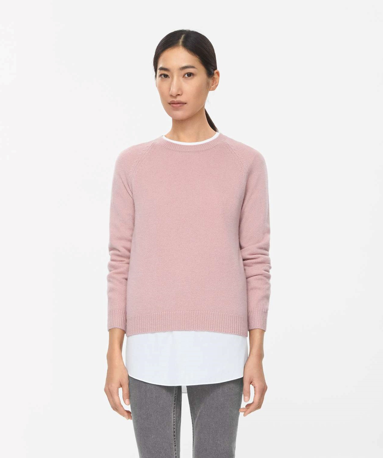 18a9b41764cf COS RELAXED CASHMERE JUMPER pale pink   Style Point of View Blog