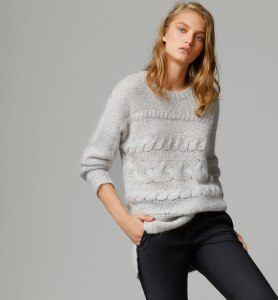 Massimo Dutti HORIZONTAL CABLE-KNIT SWEATER