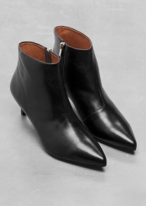 &Other Stories KITTEN HEEL LEATHER ANKLE BOOTS