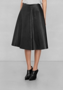 & Other Stories LEATHER SKIRT black