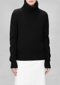 & Other Stories WOOL-BLEND TURTLENECK black