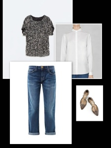 Sequin t-shirt with jeans