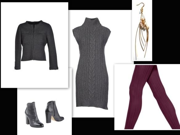 Grey dress & cardigan 2