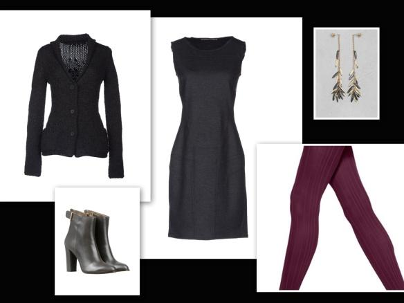Grey dress & cardigan