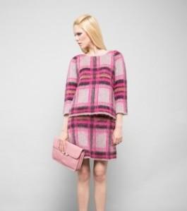 L' Autre chose mohair tartan top and skirt