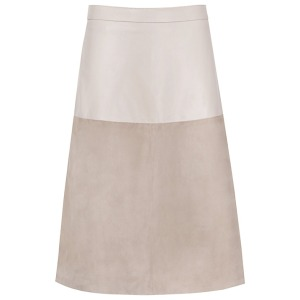 Reiss Hayden Textured Leather Skirt, Neutral