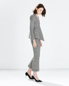 Zara cropped trousers blk/white