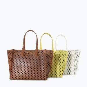 Zara Large perforated shopper bag