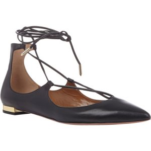 Aquazzurra Christy Lace-up flats