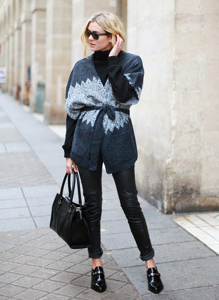 Belted Cardigan Over Black Adenorah Blog Style Point Of View Blog