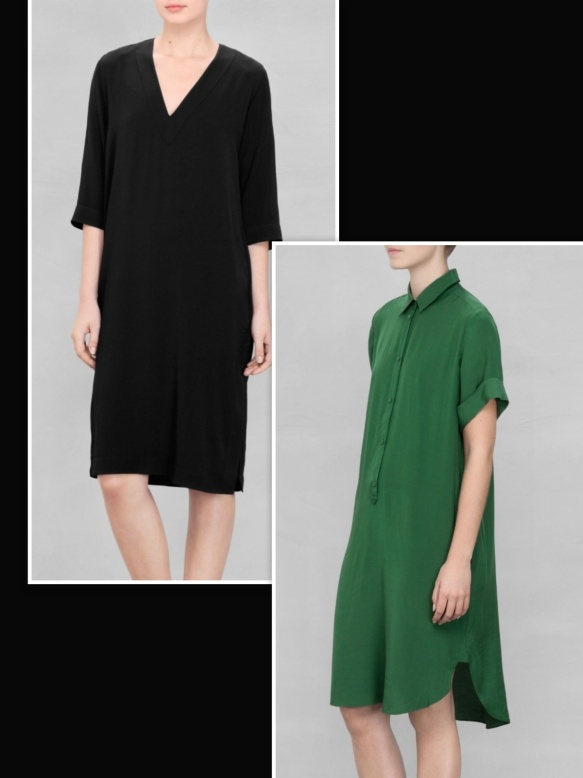Black dress over green dress