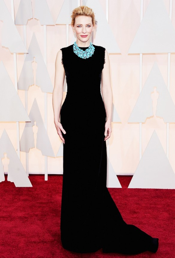 Cate Blanchett in Maison Martin Margiela gown and  Tiffany & Co. jewellelry