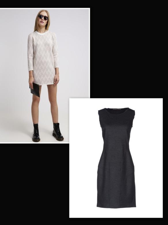 White dress over black dress