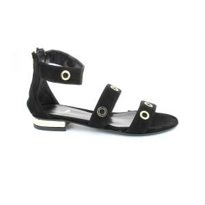 Black suede sandal%0AROBERTO DELLA CROCE
