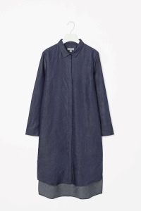 COS DENIM-LOOK SHIRT DRESS
