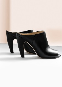 Mango curved heel mules black